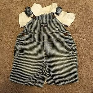 Pinstripe overall outfit
